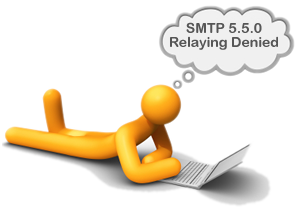 SMTP 550 relaying denied solved with outMail a outbound SMTP smarthost and Internet Mail Relay